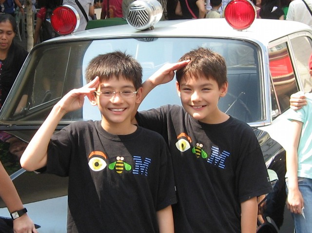 Anthony and Ernest in the Universal Studios Singapore