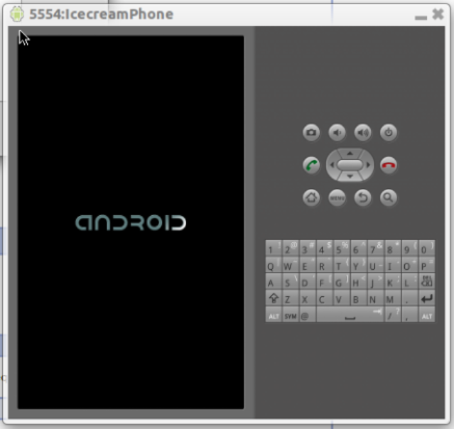 Android 4.0.3 running
